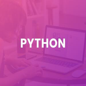 python training purple background